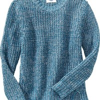 Old Navy Girls Loose Knit Vented Sweater