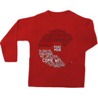 Pokemon Typography sweatshirt,long sleeve,sweater.