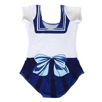 Japanese  Anime  Sailor  Cosplay  Print  Piece  Swimsuit