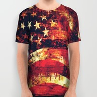 Old Glory All Over Print Shirt by Timothy Davis