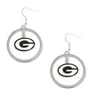 Green Bay Packers Dangle Hoop Earrings