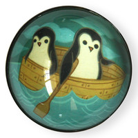 Rowboat Penguin Magnet