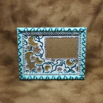 Blue Frame - Blue Photo Frames - 4x6 Frame - Small Frame - Girls Gifts - Womens Gifts - Gifts For Mom - Gifts Under 20 - Personalized Gifts