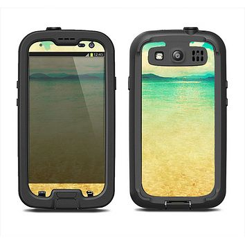 The Vintage Vibrant Beach Scene Samsung Galaxy S3 LifeProof Fre Case Skin Set