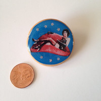 rocky horror picture show Dr. Frank-N-Furter pinback pin button
