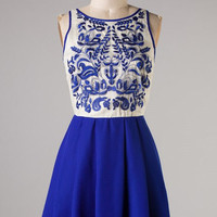 Stunning Details Dress - Royal Blue - Hazel & Olive