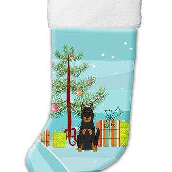 Merry Christmas Tree Beauce Shepherd Dog Christmas Stocking BB4205CS