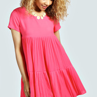 Cosette Teired Pleated Babydoll Dress