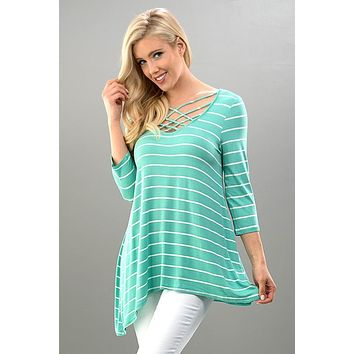 Sail Off Criss Cross Top - Mint