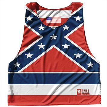 Mississippi State Flag and American Flag Reversible Lacrosse Pinnie