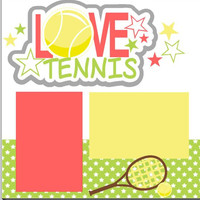 NEW!! My Love Tennis 2-page 12 X 12 Scrapbook Layout