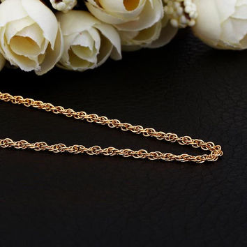 Gold Plated Thick Intertwined Chain Necklace