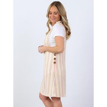 Lacey Vertical Striped Dress