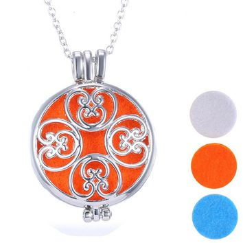 Aromatherapy Jewelry Essential Oil Diffuser Locket Necklace With Colorful Pad