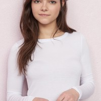 Crew Neck Semi-Fitted Long Sleeve Top