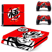 Dragon Ball Z PS4 Skin Stickers Vinyl Decal For Playtation 4 +2 Controllers Skin