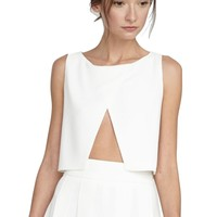 alice + olivia | CROSS FRONT CROP TOP