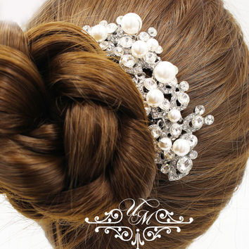 Wedding jewelry Wedding Accessories Bridal Hair Comb Bridesmaids hair comb Bridal hair pins Rhinestone hair comb Bridal Headpiece - ACIA