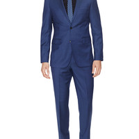 The James Regular Fit Birdseye Wool Suit