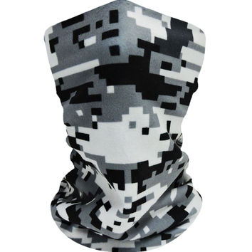 Digital Camo Black-Grey Neckwarmer