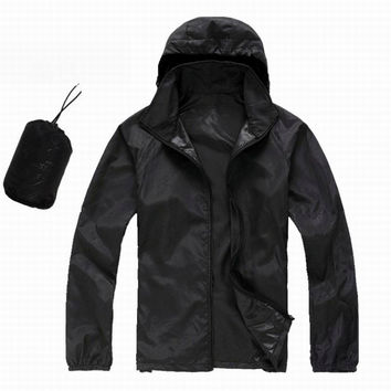 Hot Spring Summer Waterproof Wind Coat Lovers Rain Jacket Men Jacket Mujer Quick-Dry Cycling Ultra Light Sport Jacket Women
