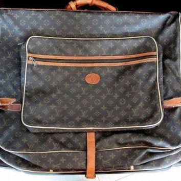 ONETOW Authentic LV ~ Vintage Louis Vuitton Garment Bag ~ Monogram Louis Vuitton Luggage
