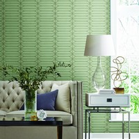 Pavilion Wallpaper in Denim from the Breathless Collection by Candice – BURKE DECOR