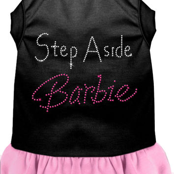 Step Aside Barbie Rhinestone Dress Black with Light Pink XL (16)