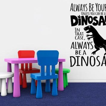 Children's Wall Decals Dinosaur Decal Wall Sticker - Dinosaur Wall Art - T Rex - Nursery Decal