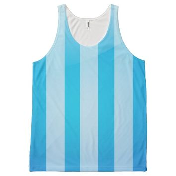 Blue Strips All-Over Print Tank Top