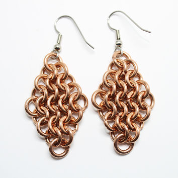 Handcrafted Chainmail Diamond Shape by JulieKindtStudio on Zibbet