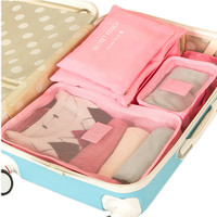 6pcs/set Packing Cube Women Men Travel Bag Waterproof High Capacity Luggage Clothes Tidy Sorting Pouch Portable Organizer Case
