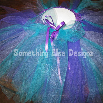 Princess Tutu Mermaid Tutu, Ariel Tutu Birthday Tutu Infant Toddlers Tutu Tulle Tutu Purple Tutu Flower Girl Tutu