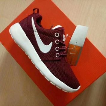 """Nike Roshe Run"" Sport Casual Unisex Running Shoes Couple Sneakers"
