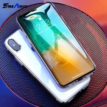 Premium Tempered Glass for iPhone X 8 4 4S 5 5S SE 5C 6 6S 7 Plus Screen Protector Toughened Protective Film Funda case
