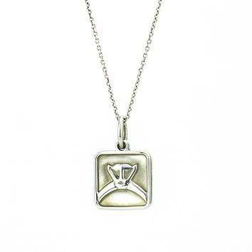 Tiffany & Co. 2012 Engagement Ring Pendant Necklace in Sterling Silver