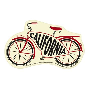 California Cruiser Bike Sticker