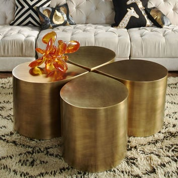 Jonathan Adler Brass Teardrop Table