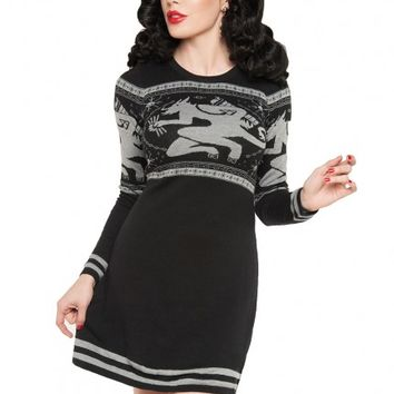 Final Sale - Krampus Sweater Dress