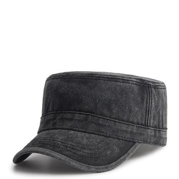 Outdoor Sunscreen Washed Cotton Flat Hat