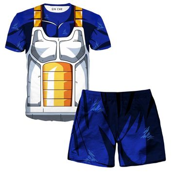 Vegeta Cell Armor Armor T-Shirt And Shorts Rave Outfit