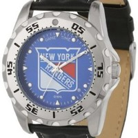 Game Time Men's NHL-WWG-NYR New York Rangers Analog Strap Watch and Wallet Set