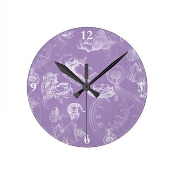Alice in Wonderland Teatime Lavender Clock