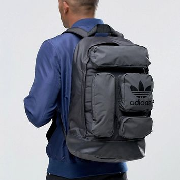 adidas Originals Multi Pocket Backpack In Black AY8663 at asos.com