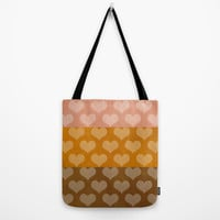 Patina Hearts Rose Gold Tote Bag by Beautiful Homes