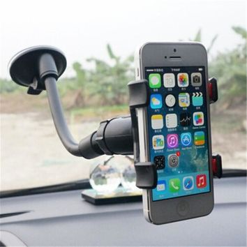 Universal Windshield Dashboard 12 inches Long Arm Car Phone Mount for iPhone X/7/6S/6 Plus/8 8 Plus