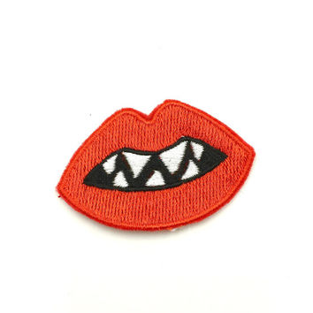 Sexy Monster Lips Patch