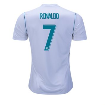 Cristiano Ronaldo #CR7 Real Madrid soccer 2017/18 Home Jersey – White