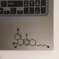 THC Molecule Vinyl Decal Sticker - Cannabis