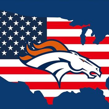 New style 3x5FT Denver Broncos Flag with American banner flag 100D Polyester NFL flag in hot selling Flag